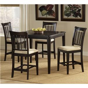 Morris Home Furnishings Bayberry and Glenmary Five Piece Counter Height Dining Set