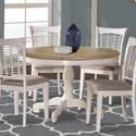 Hillsdale Bayberry White Round Table - Item Number: 5753DTB