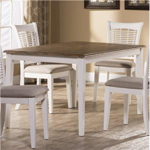 Morris Home Furnishings Bayberry White Rectangular Dining Table
