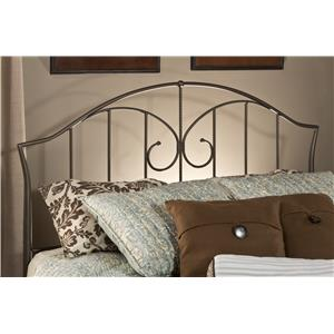 Hillsdale Metal Beds Zurick King Headboard with Rails