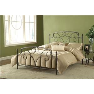 Hillsdale Metal Beds Cartwright Queen Bed Set Without Rails