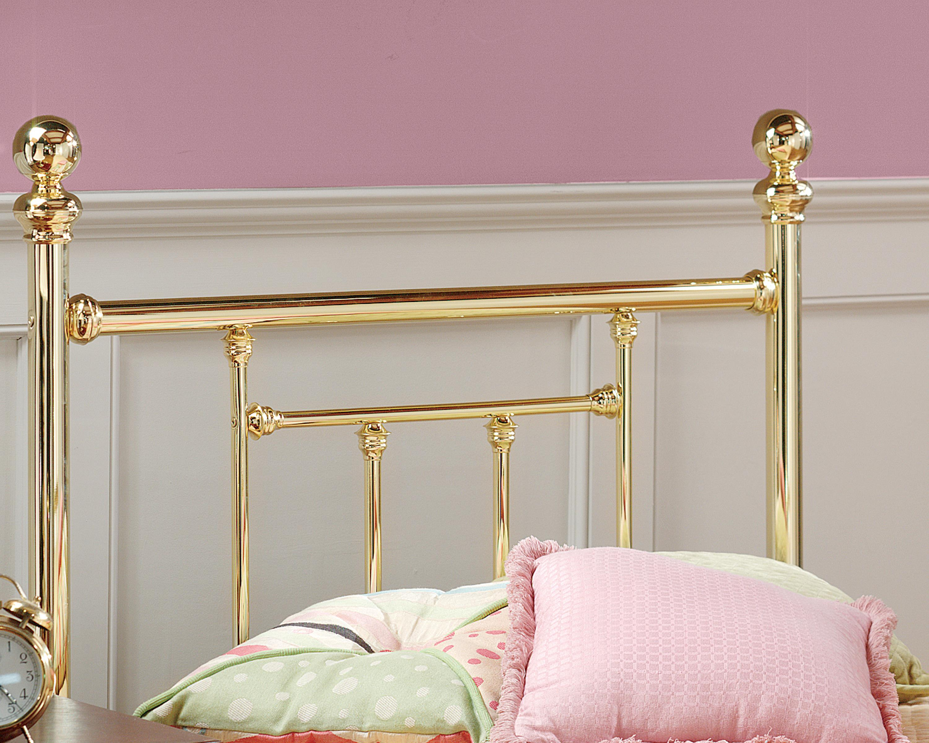 Hillsdale Metal Beds Twin Headboard with Rails - Item Number: 1035HTWR