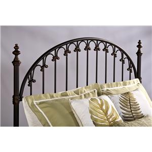 Morris Home Furnishings Metal Beds Full/Queen Headboard with Rails