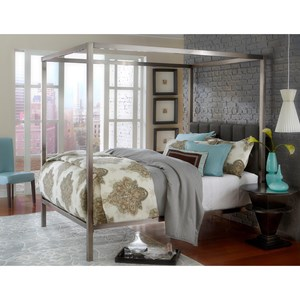 Morris Home Furnishings Metal Beds Chatham Queen Bed Set w/ rails