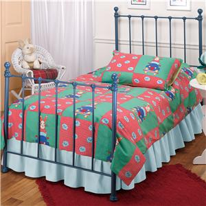 Morris Home Metal Beds Twin Blue Molly Bed