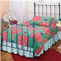 Morris Home Furnishings Metal Beds Twin Blue Molly Bed - Item Number: 1088BTWR