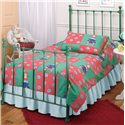 Hillsdale Metal Beds Twin Green Molly Bed - Item Number: 1089BTWR