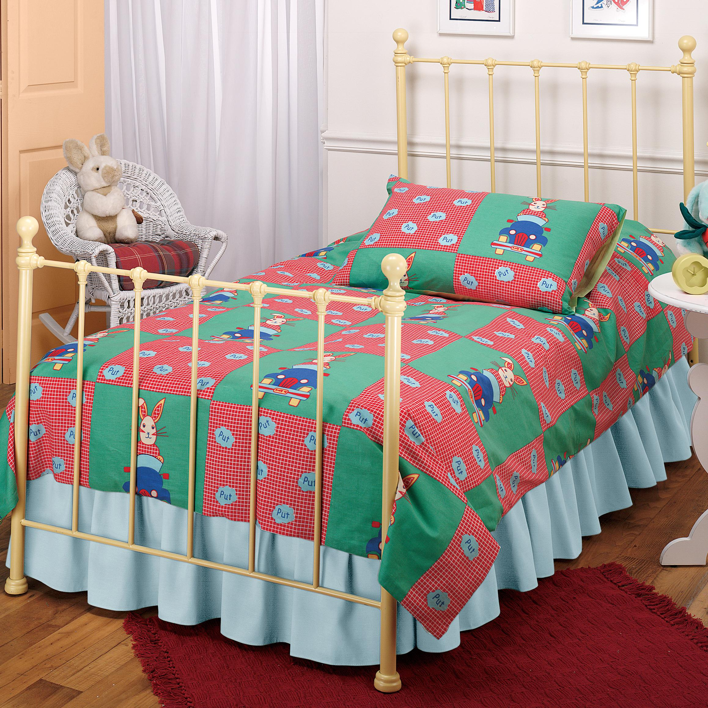 Hillsdale Metal Beds Twin Yellow Molly Bed - Item Number: 1090BTWR