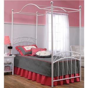 Morris Home Furnishings Metal Beds Twin Emily Canopy Bed