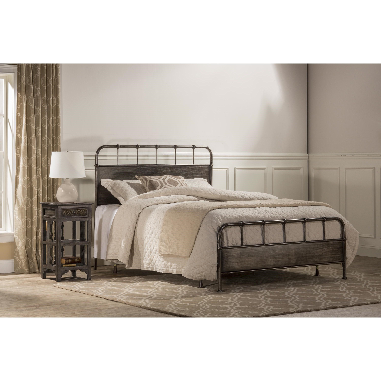 Hillsdale Metal Beds Utilitarian Metal Queen Bed Set Vandrie Home Furnishings Panel Beds