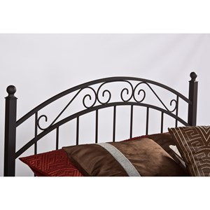 Morris Home Metal Beds Queen Willow Headboard
