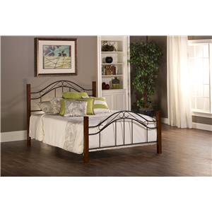 Morris Home Furnishings Metal Beds Matson Queen Bed Set Without Rails