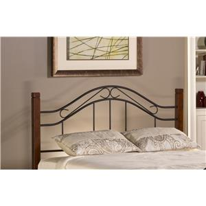 Morris Home Furnishings Metal Beds Matson King Headboard with Rails