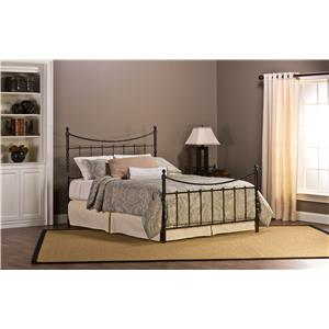 Hillsdale Metal Beds Sebastion King Bed Set Without Rails
