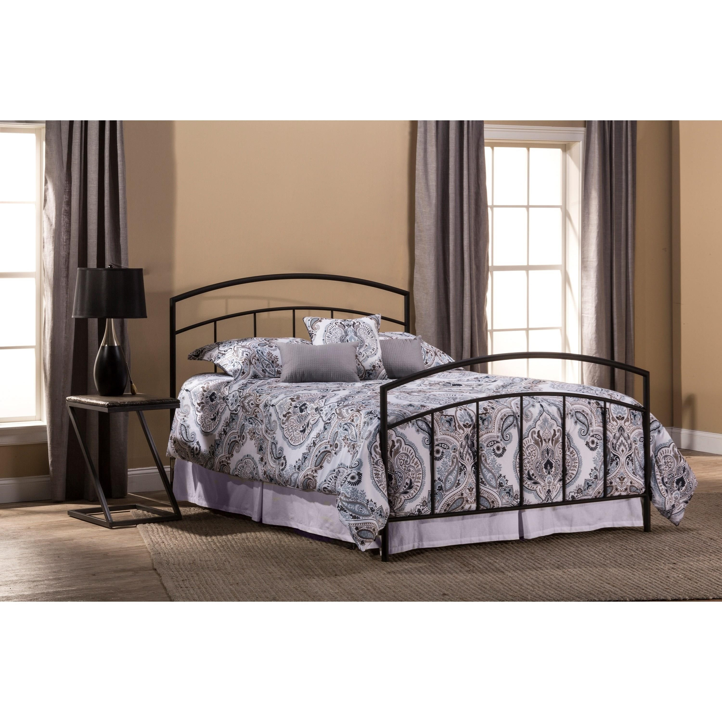 Queen Bed Set with Rails