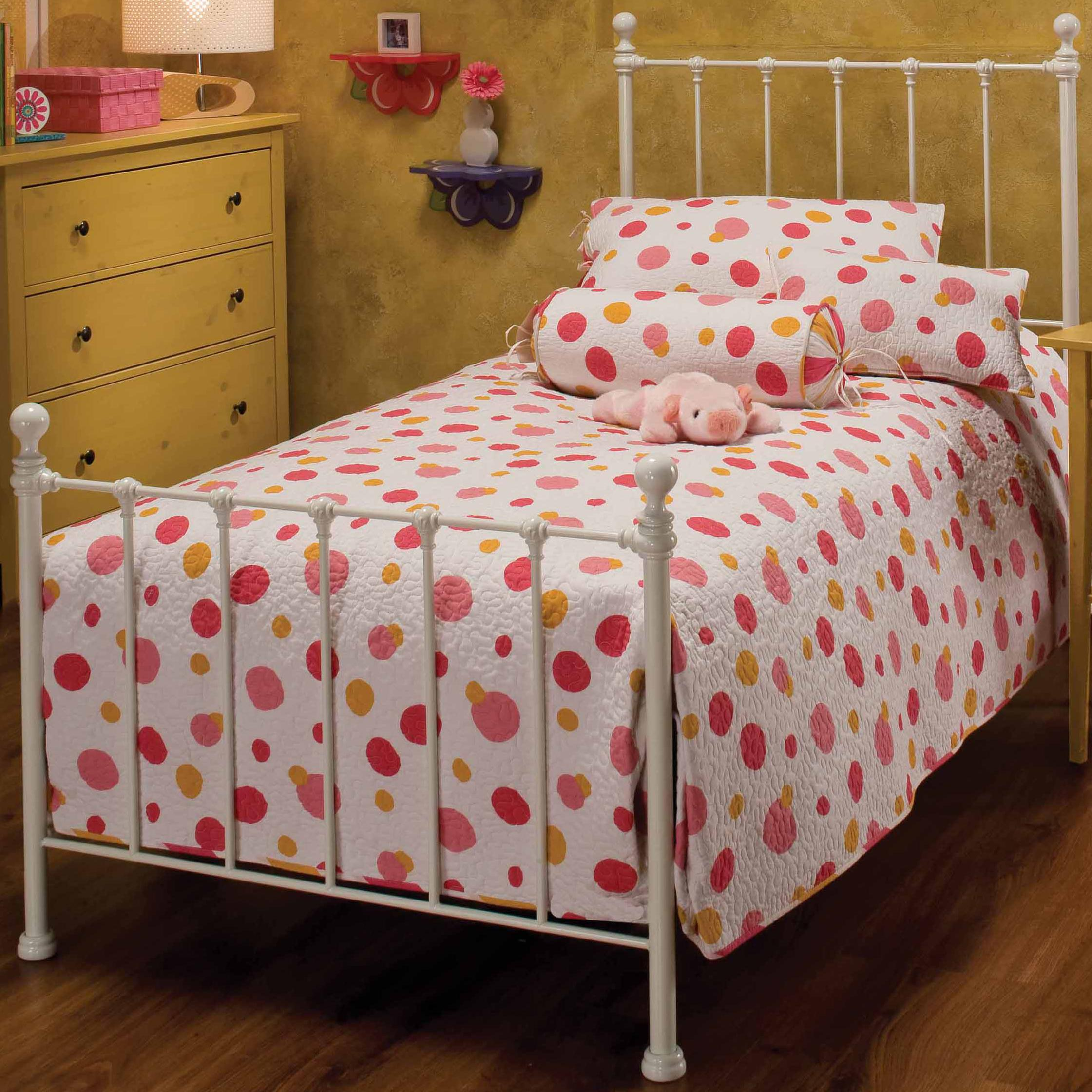 Hillsdale Metal Beds Twin White Molly Bed - Item Number: 1222BTWR