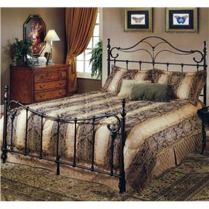 Morris Home Furnishings Metal Beds Queen Bennet Bed
