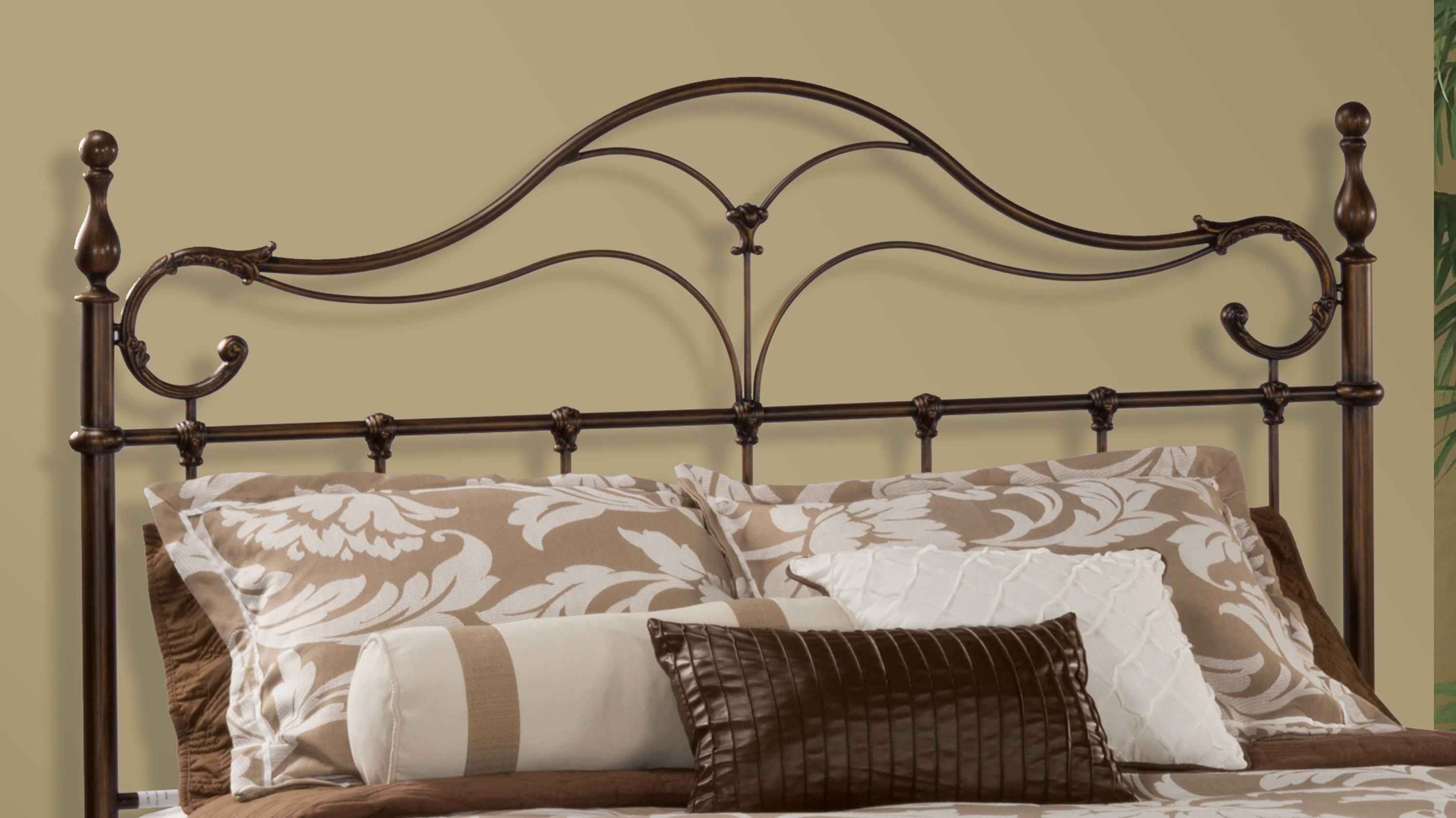 Hillsdale Metal Beds Bennett King Headboard and Rails - Item Number: 1249HKR