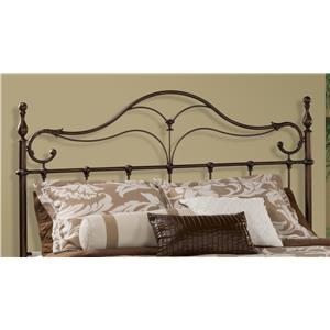Morris Home Furnishings Metal Beds Bennett King Headboard and Rails