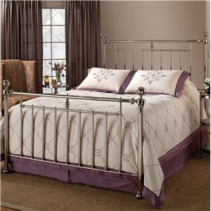 Morris Home Furnishings Metal Beds Holland King Headboard with Rails