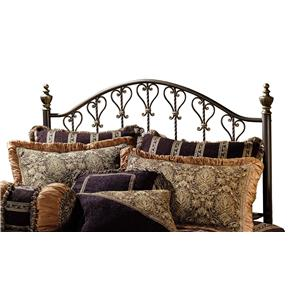 Hillsdale Metal Beds Huntley King Headboard with Rails