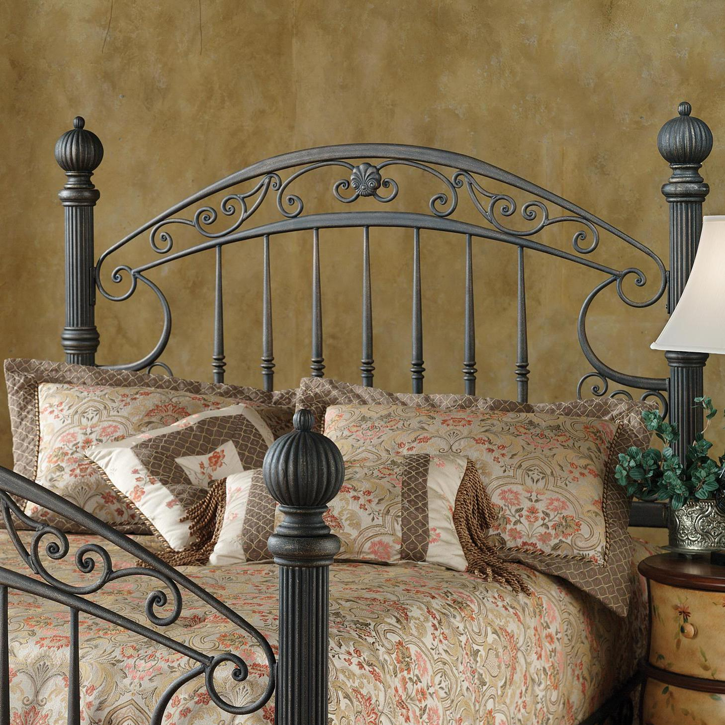 Hillsdale Metal Beds King Chesapeake Headboard Grill with Frame - Item Number: 1335HKR