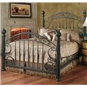 Hillsdale Metal Beds King Chesapeake Headboard Grill  - 1335-670 - Shown with Bed