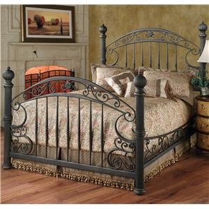 Morris Home Furnishings Metal Beds Queen Chesapeake Bed