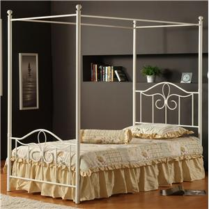 Morris Home Furnishings Metal Beds Twin Westfield Canopy Bed