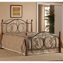 Hillsdale Metal Beds Full Milwaukee Wood Post Bed - Item Number: 1422BFRP