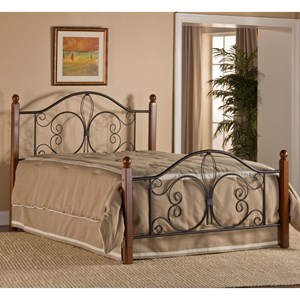 Hillsdale Metal Beds King Milwaukee Wood Post Bed