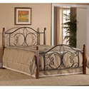 Hillsdale Metal Beds Queen Milwaukee Wood Post Bed - Item Number: 1422BQRP