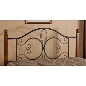 Morris Home Furnishings Metal Beds Full/Queen Milwaukee Wood Post Headboard