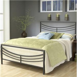 Morris Home Furnishings Metal Beds Queen Kingston Bed