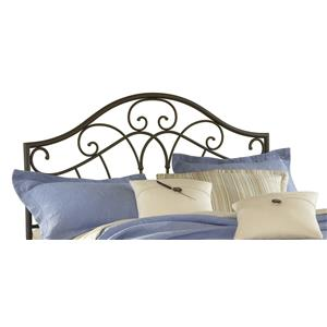 Morris Home Metal Beds Josephine King Headboard with Rails