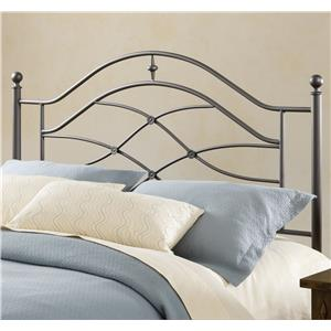 Morris Home Furnishings Metal Beds Cole Full/Queen Headboard with Rails