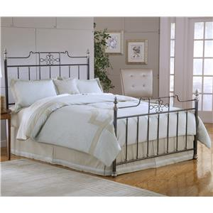 Hillsdale Metal Beds Amelia Queen Bed with Rails not Included