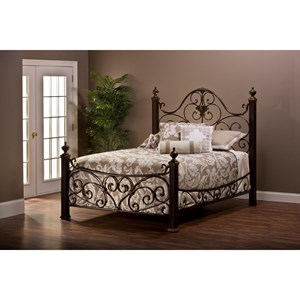 Morris Home Furnishings Metal Beds Queen Bed Set with Rails