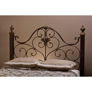 Morris Home Furnishings Metal Beds Queen Headboard with Rails