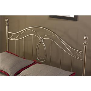 Morris Home Metal Beds Milano Full/Queen Headboard with Rails