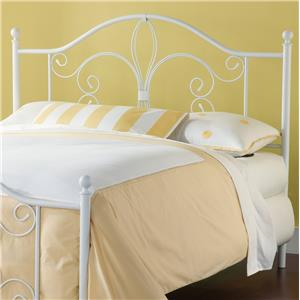 Morris Home Furnishings Metal Beds Ruby King Headboard with Rails