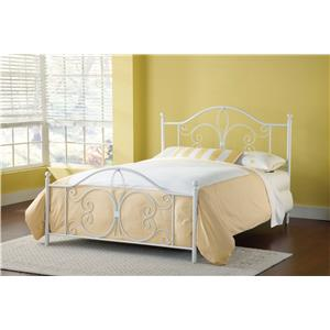Morris Home Furnishings Metal Beds Ruby Queen Bed
