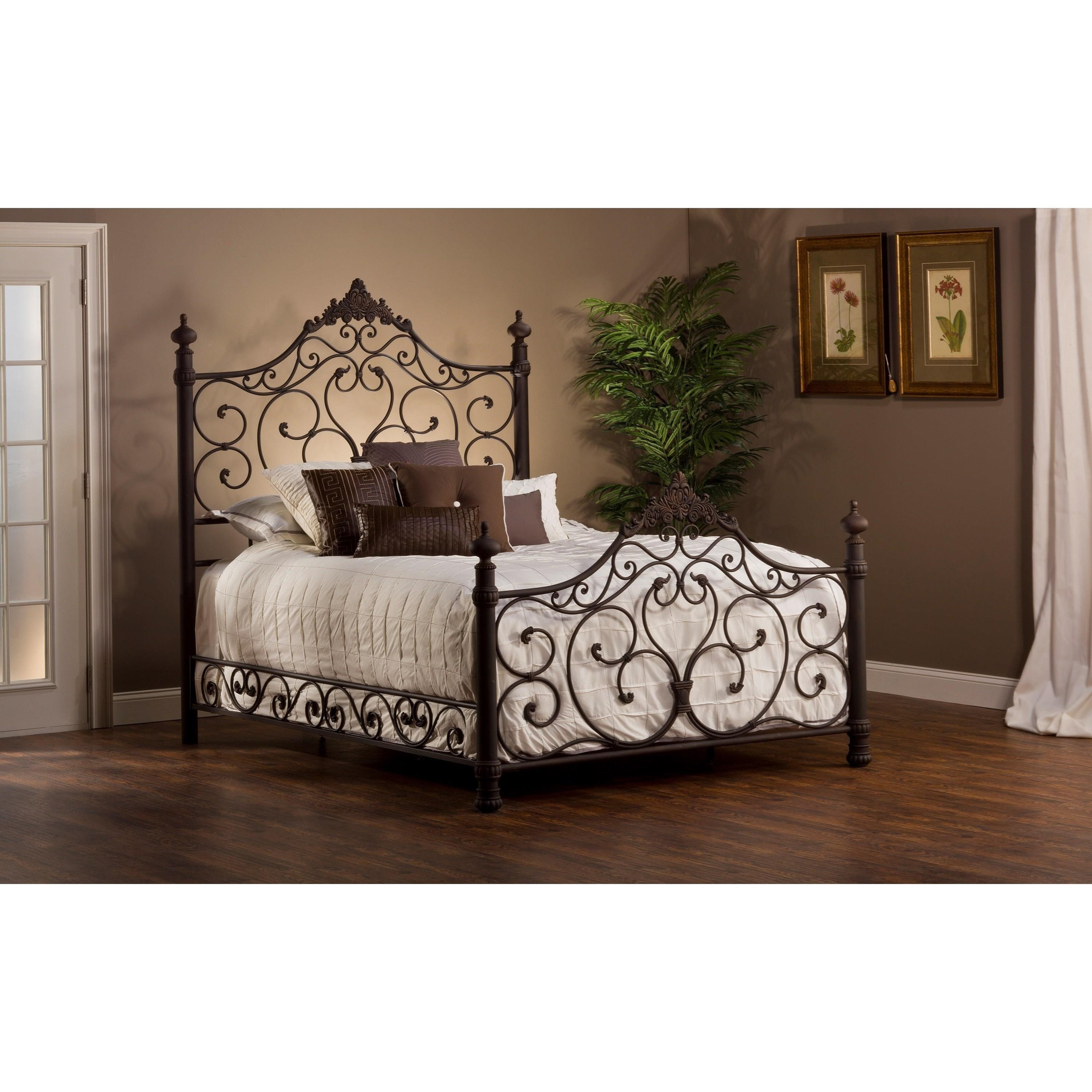 Hillsdale Metal Beds Queen Bed Set with Rails - Item Number: 1742BQR