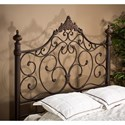 Morris Home Furnishings Metal Beds Queen Headboard with Rails - Item Number: 1742HQR