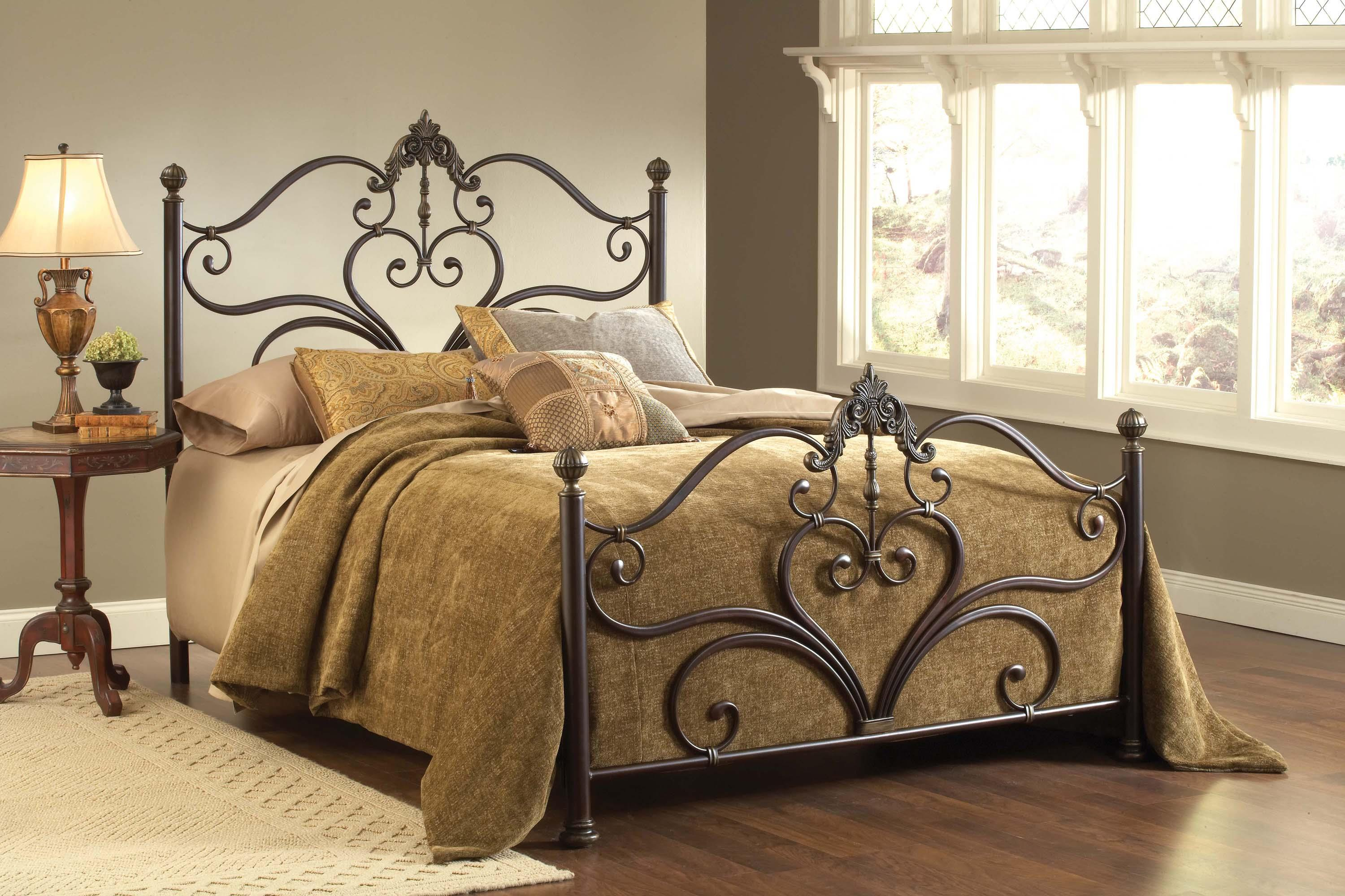 Hillsdale Metal Beds Newton Queen Bed Set with Scrollwork - Item Number: 1756BQR
