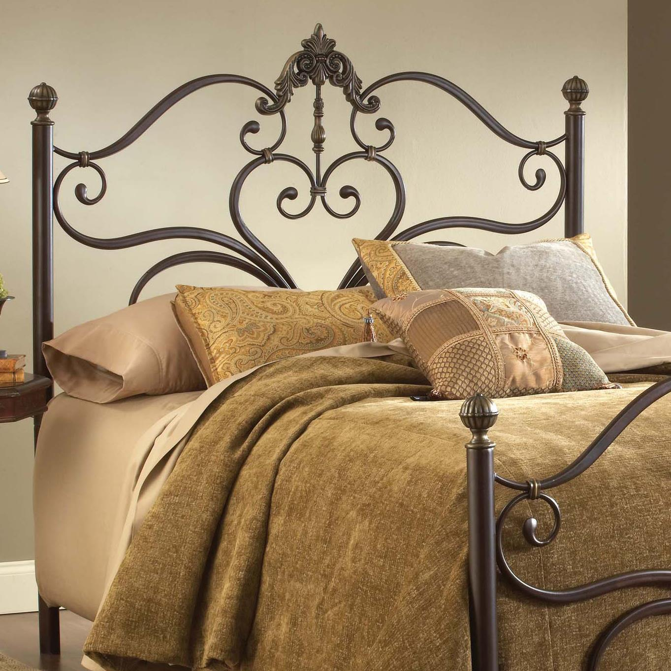 Hillsdale Metal Beds Newton King Headboard with Rails - Item Number: 1756HKR