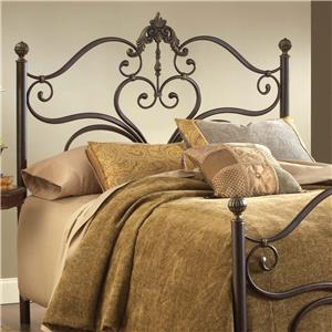 Morris Home Furnishings Metal Beds Newton Queen Headboard with Rails