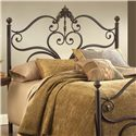 Morris Home Furnishings Metal Beds Newton Queen Headboard with Rails - Item Number: 1756HQR