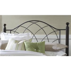 Morris Home Furnishings Metal Beds Vista King Headboard with Rails