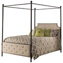 Morris Home Furnishings Metal Beds Canopy King Bed Set - Rails Not Included